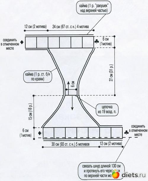 вязаное бель схема