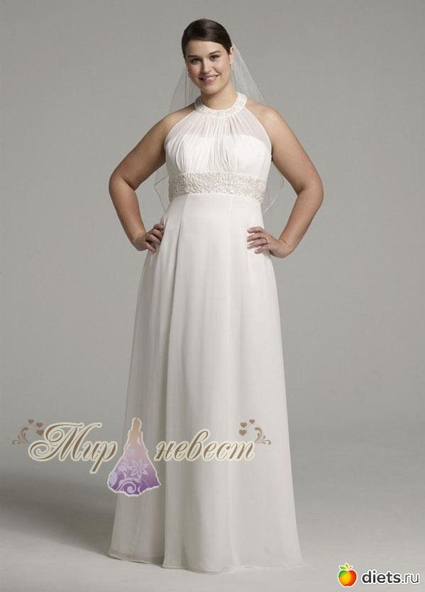 Свадебное платье для очень полных 2