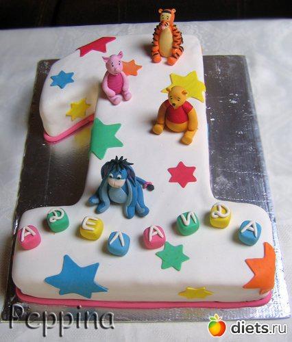 Тортик на 1 год своими руками 47