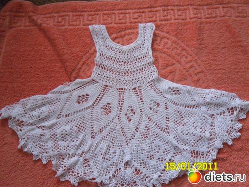 Вязание крючком детские платья