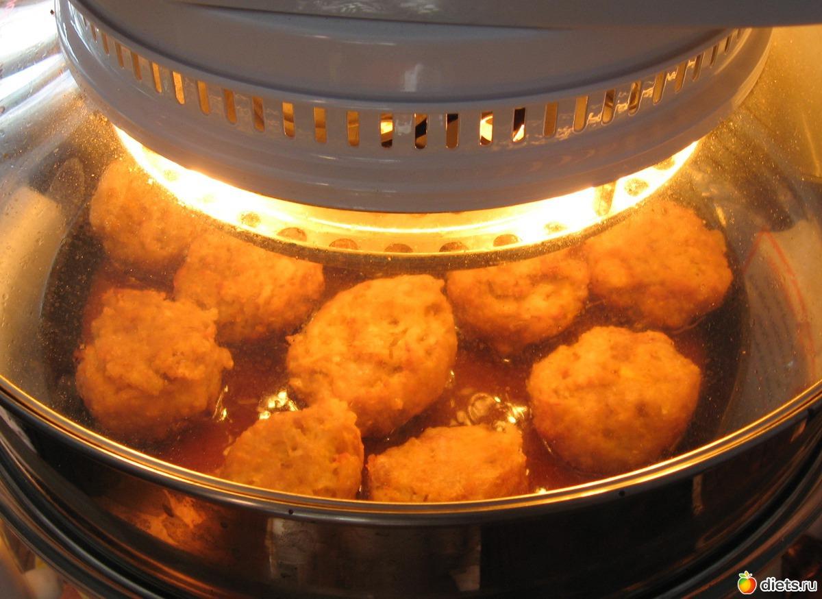 Куриные тефтели с подливкой.как приготовить