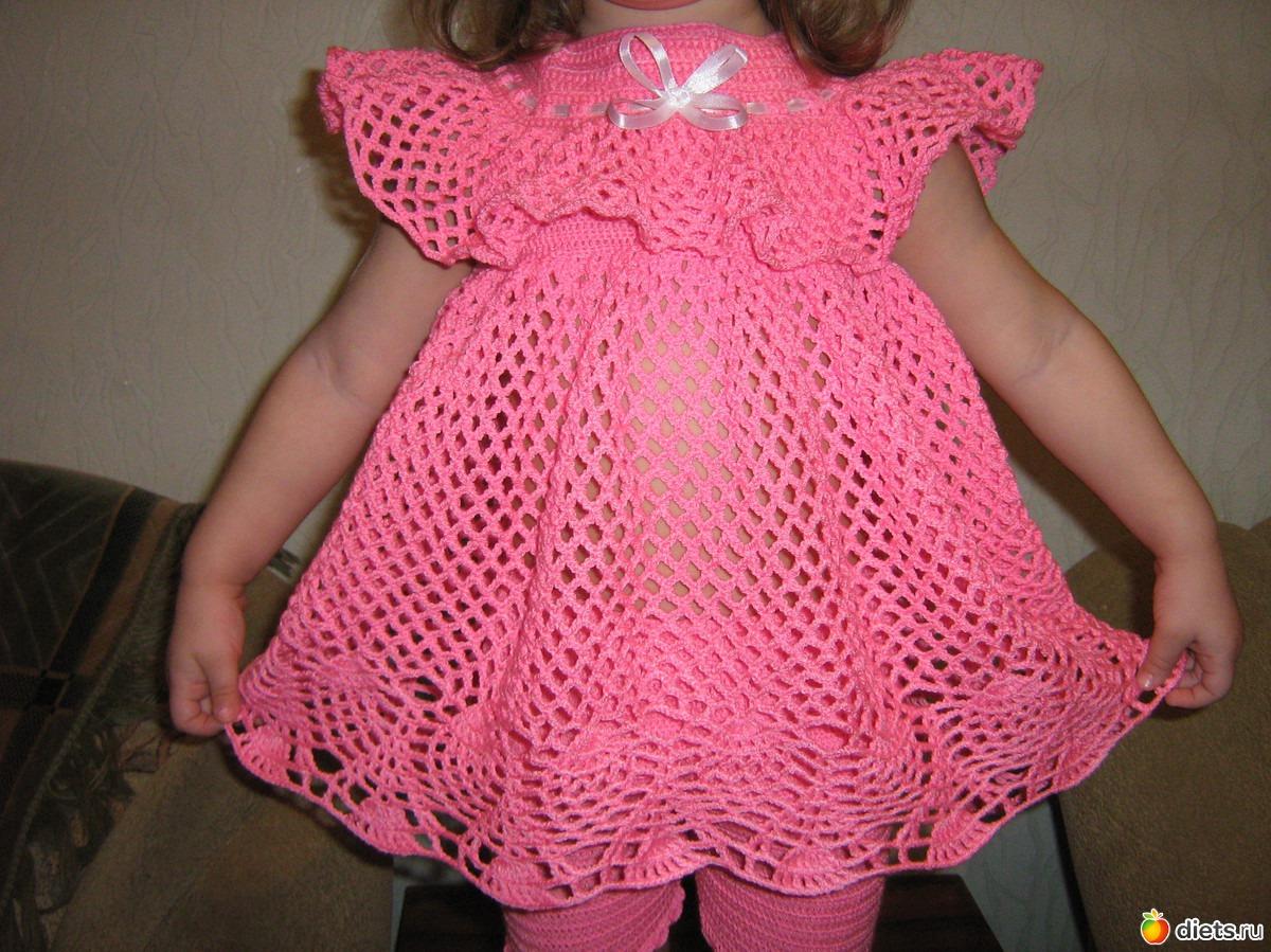 Вязаные Платья Для Малышек