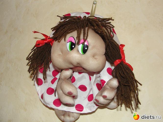 """кукла """"попик"""" из колготок."""