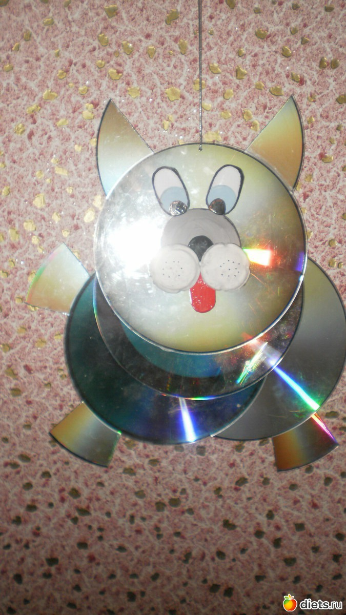 Поделки из дисков с фото