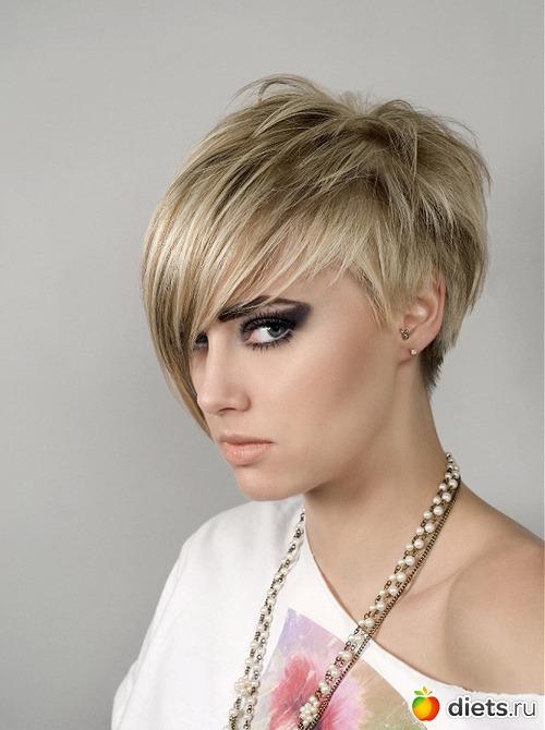 Причёски с чёлкой короткой