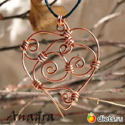 Сердце из олова своими руками