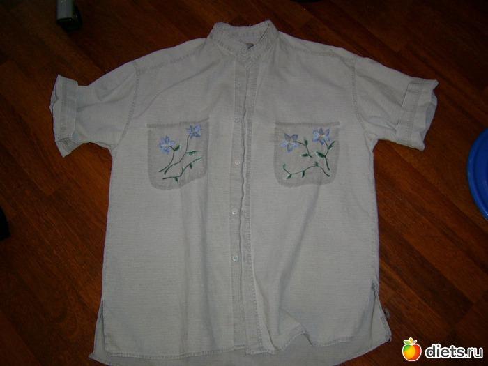 юбка из старых джинсов, блузка из.