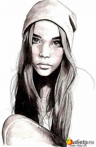 Рисунки карандашом девочки подростки