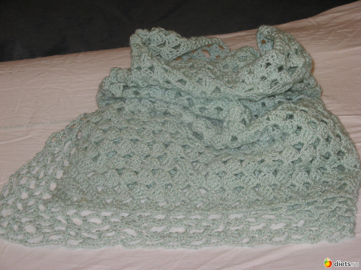 Вязание косынка на плечи