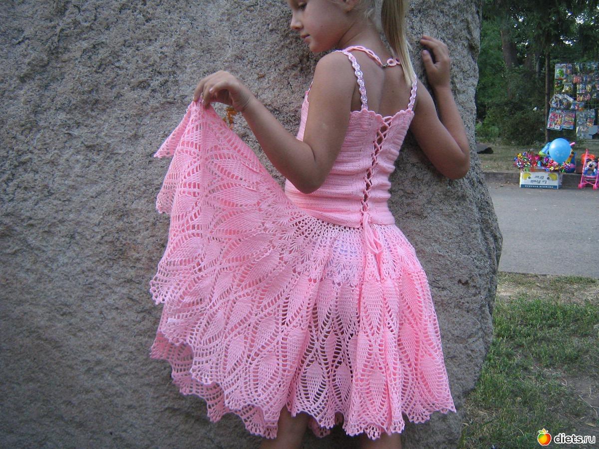 Как связать детскую юбку школа мам видео