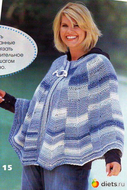Вязание для полных, вязание спицами, вязание крючком, схемы вязания.