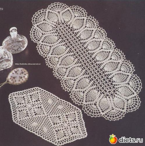 Схемы вязания овальных