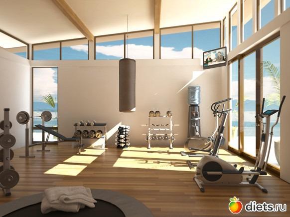 Домашний спортзал интерьер фото