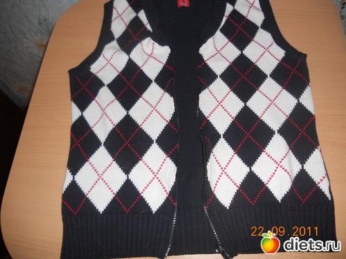 Жилет из свитера своими руками 51