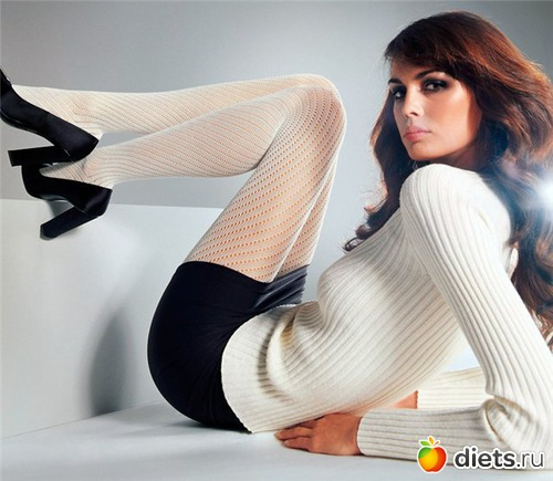 White pantyhose girl