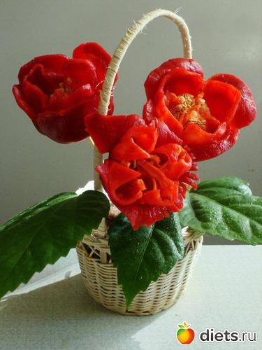 Цветы из перца своими руками