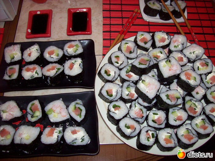 Делаем суши и роллы