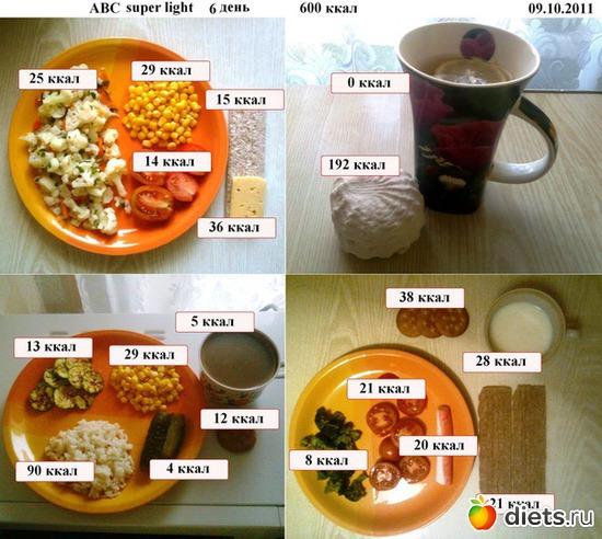 600 kcal al giorno