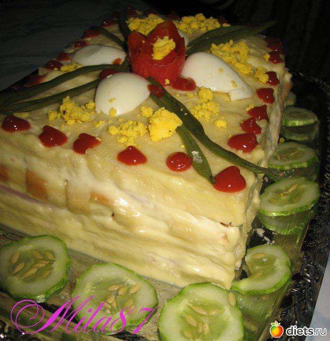 Торты на закускуы с фото