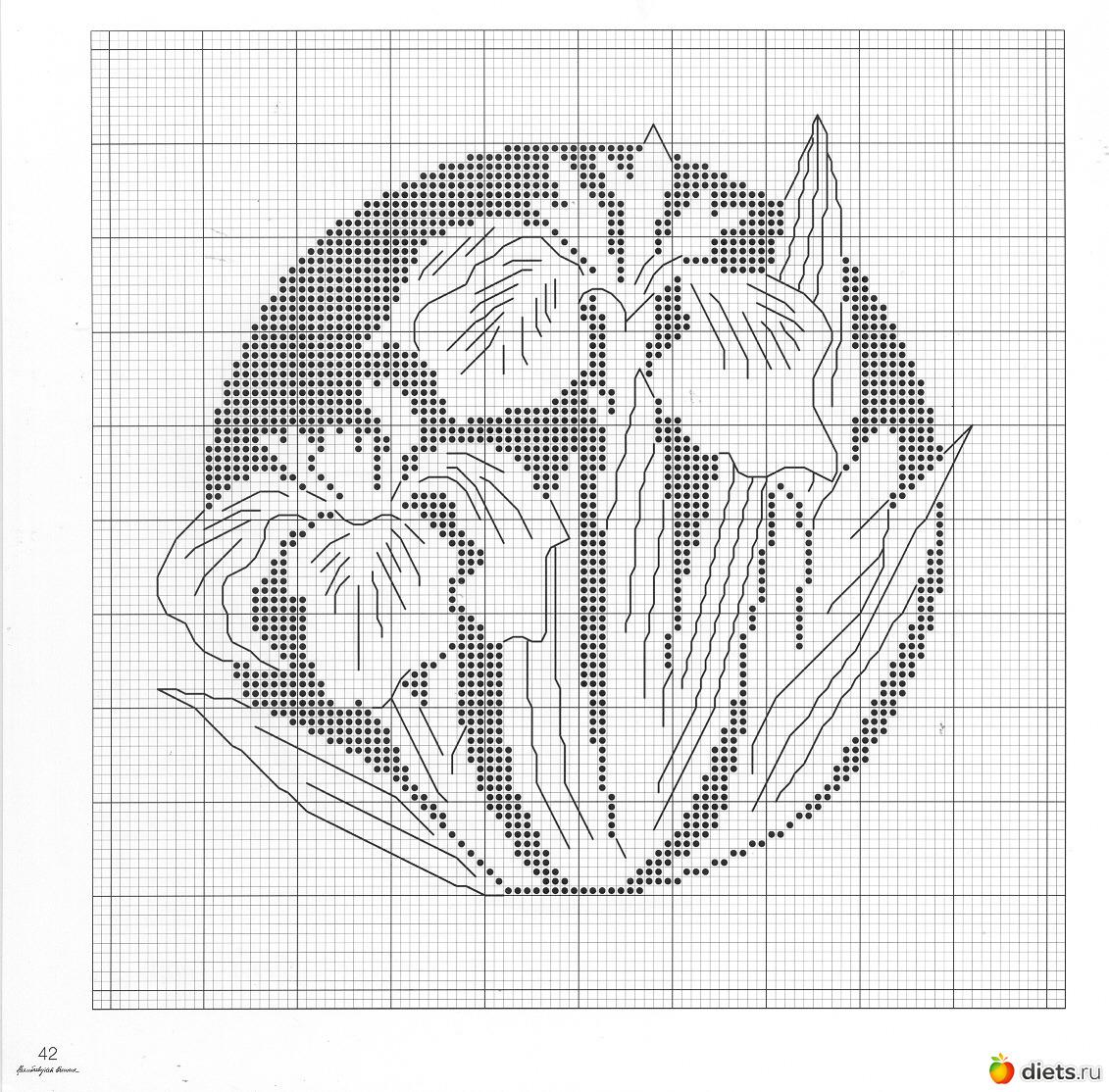 Цветы вышивка монохром схемы