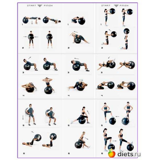 видео уроки упражнения с гимнастическим мячом