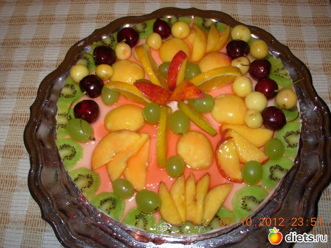 торт залитый желе фото-рецепт