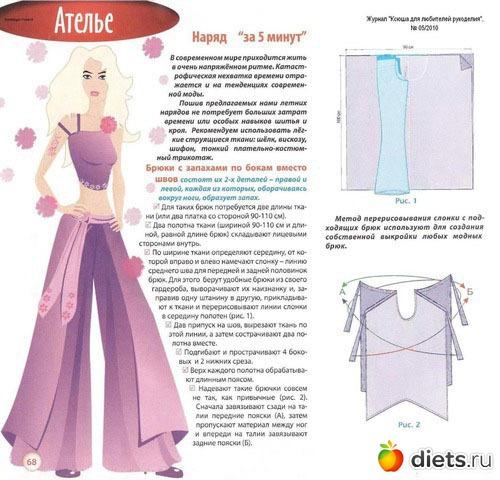 Как сшить женские брюки-юбку своими руками
