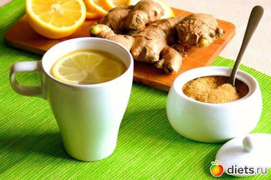 Имбирный чай на диете