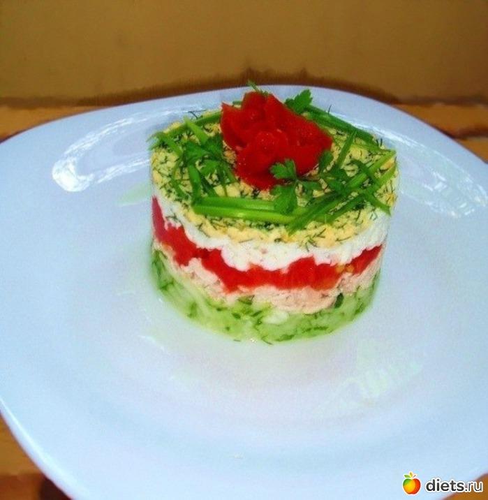 Порционный салат рецепт с фото