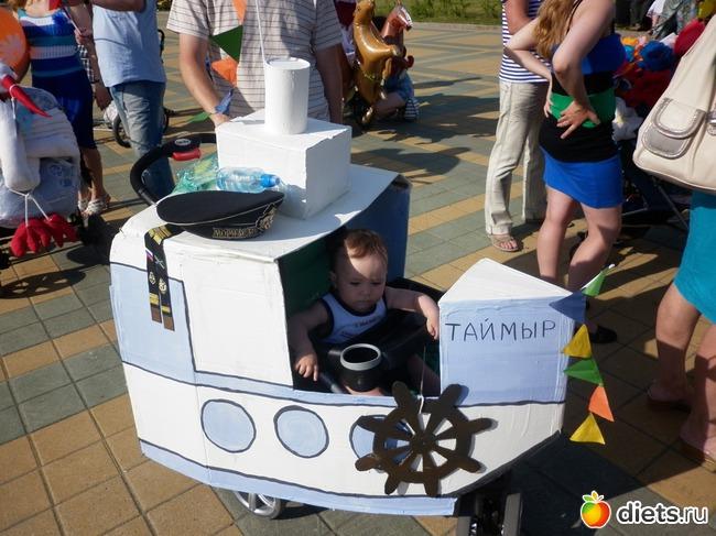 Как сделать корабль на коляску