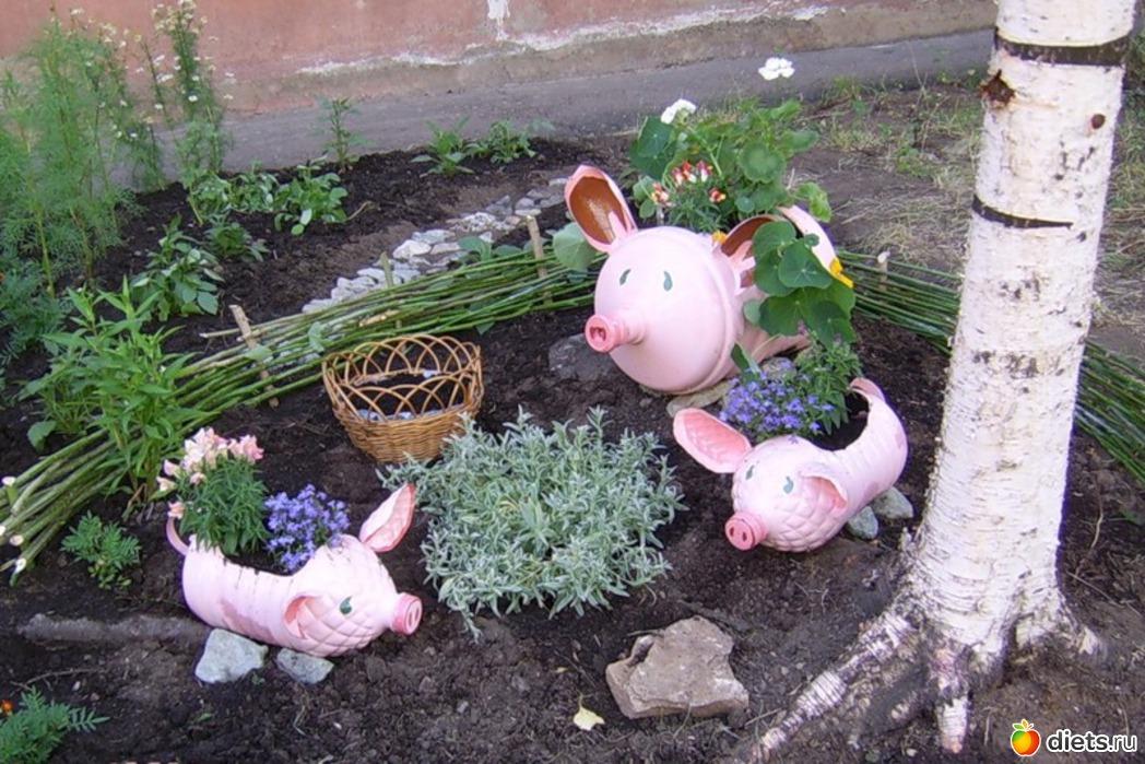 Как сделать украшение для сада своими руками фото