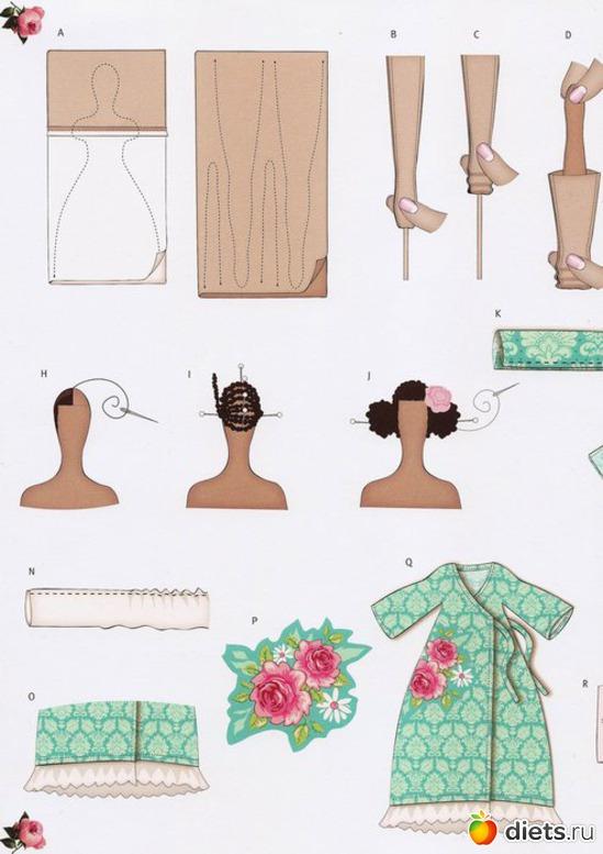 Как сшивать куклу тильду ангела