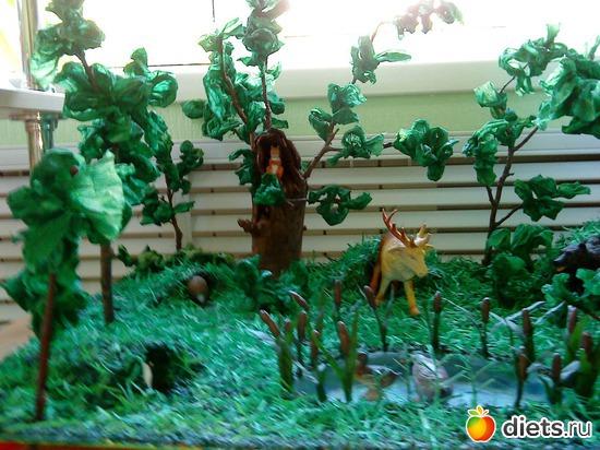 Лес макет своими руками - Хобби и увлечения