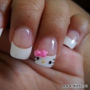 Необычный дизайн ногтей в стиле френч