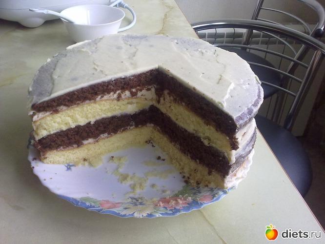 торт с сметанным корж фото
