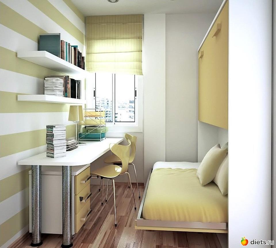 Интерьер для небольшой детской комнаты