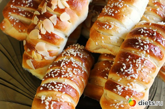 Французские булочки кремом рецепт фото