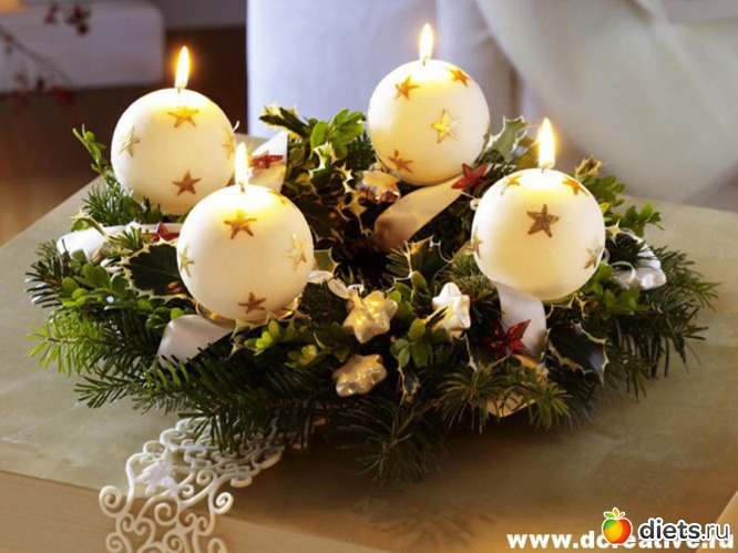 Венки со свечами своими руками