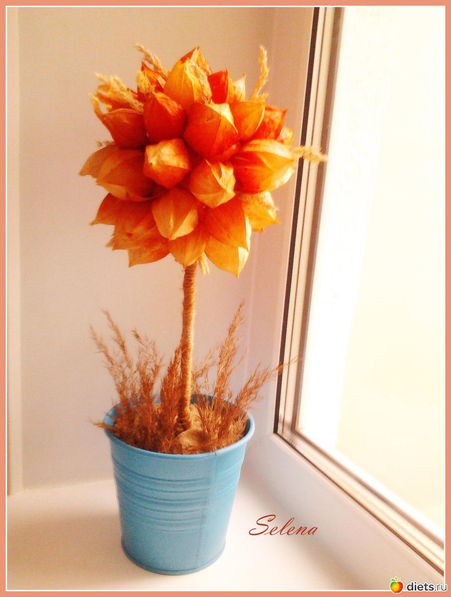 Цветы в горшочке поделка в детский сад