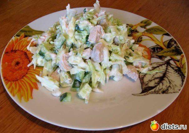 Рецепт простого салата с курицей с фото