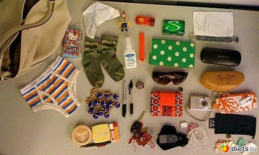 Содержимое женской сумочки www.krasfun.ru