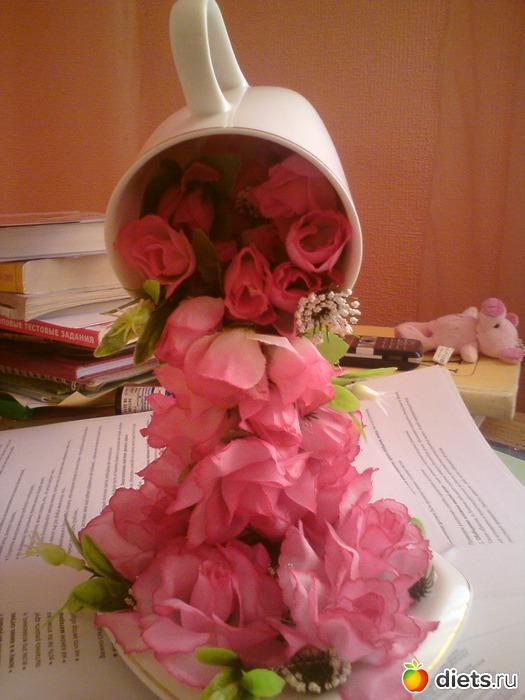 Из кружки льются цветы