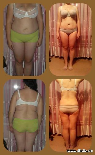 похудела за 2 месяца до и после