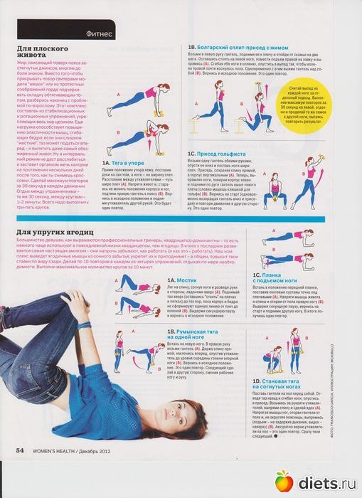 Как сделать живот подтянутым упражнения