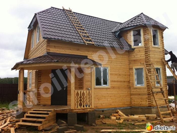 Деревянные дома с эркером фото