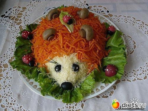 Ежик салат с фото