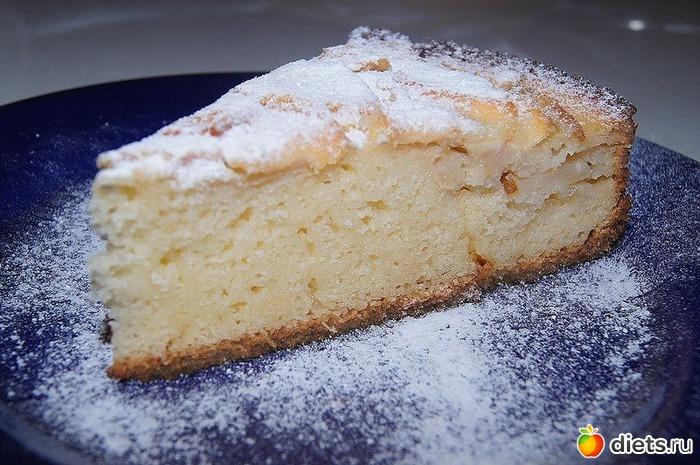 Пирог с яблоками с манкой рецепт с