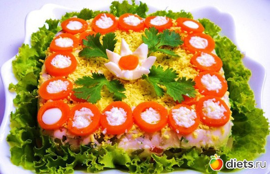 рецепты салатов и украшения их с фото