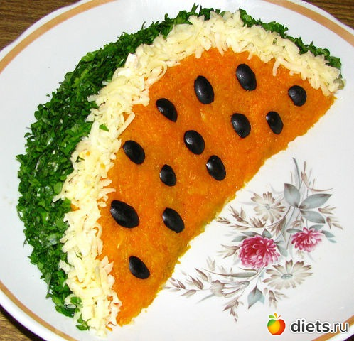 Как украсить салат поэтапно