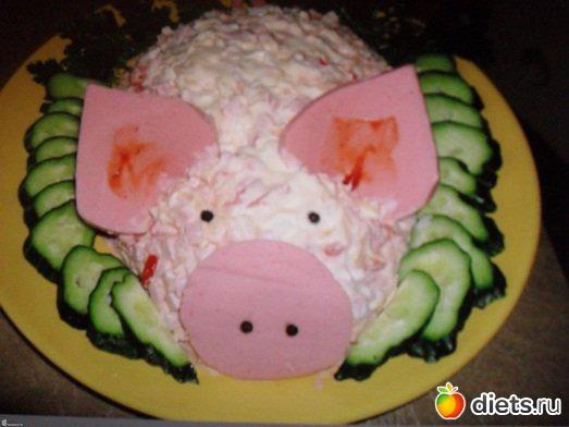 Как красиво оформить салат на детский день рождения